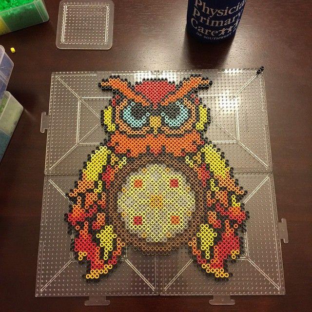Owl dreamcatcher perler beads by sara sidock