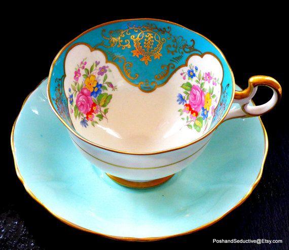 Exquisite rare unique Adderley tea duo antique by PoshandSeductive