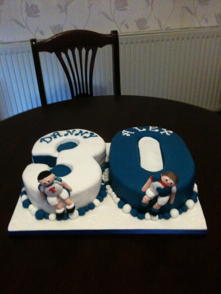 30th joint birthday cake blackburn rovers and preston for 30th birthday cake decoration