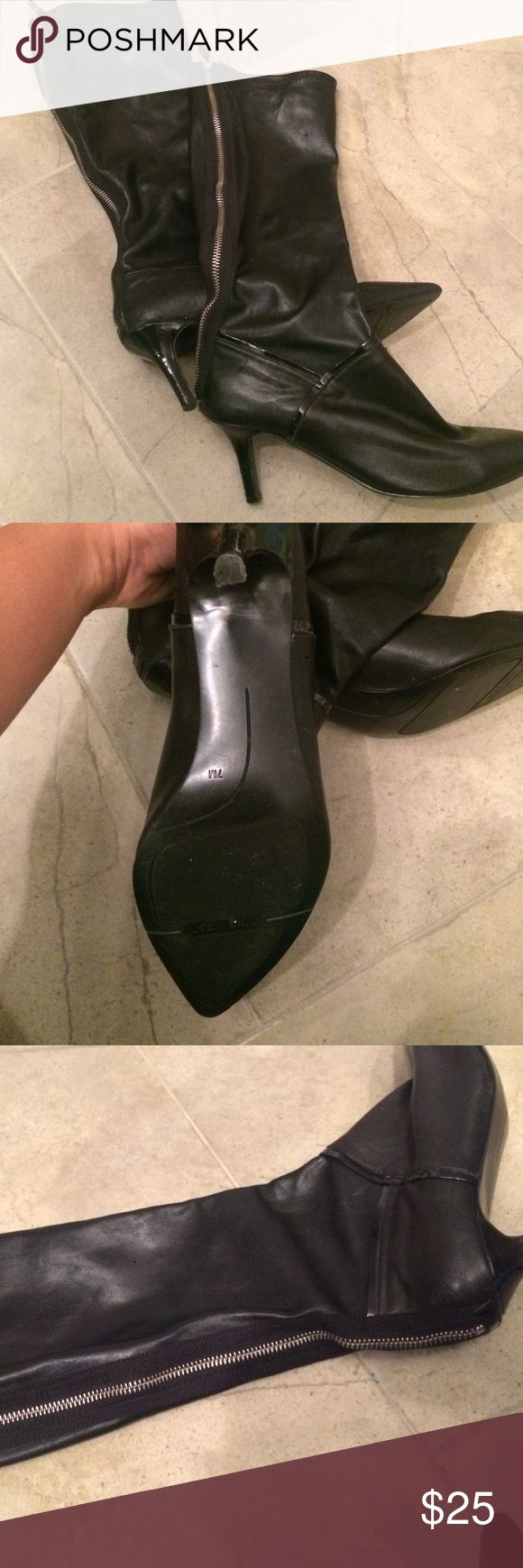 Black knee high boots! Great Used Condition! Perfect fall boot. Nine West Shoes Heeled Boots