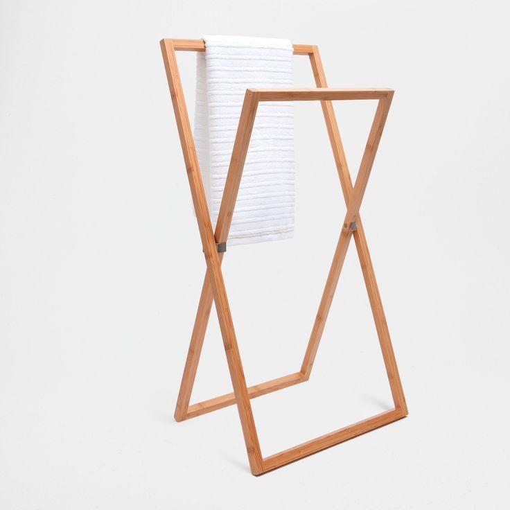 Zara Home bamboo wooden towel rack