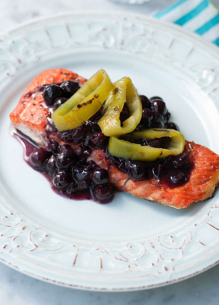 Grilled Wild Copper River Salmon With Blueberry Hatch Chili Sauce ...