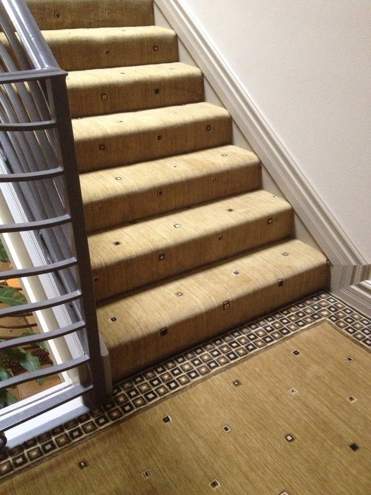 Nourisonu0027s Cosmopolitan Square Looks Amazing In This Custom Stair  Installation By Hemphillu0027s Rugs U0026 Carpet.