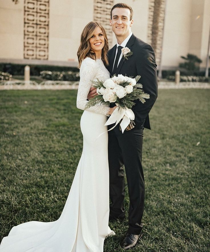 modest wedding dress with long sleeves from alta moda bridal (modest bridal gowns) photo by lexie mcrae