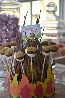 Smores pops - So easy. Dip  half of marshmallows in chocolate then finely chopped nuts,sprinkles or coconut flakes.