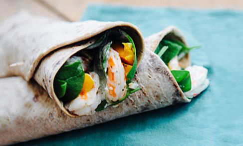 Shrimp & Mango Wraps by spryliving #Shrimp #Mango Wrap #Healthy