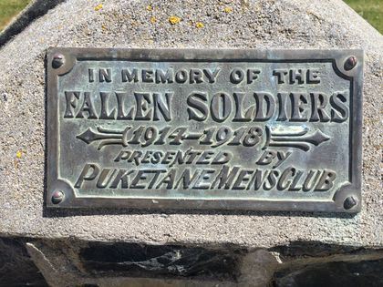 Karitane School Memorial Plaque - Historypin   Walking with an Anzac