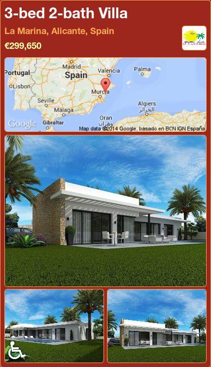 3-bed 2-bath Villa for Sale in La Marina, Alicante, Spain ►€299,650