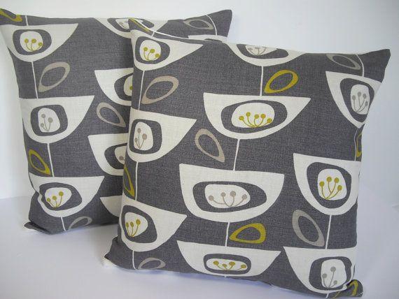 John Lewis Mid Century print Seedhead cushion cover  door Andshine, £13.90