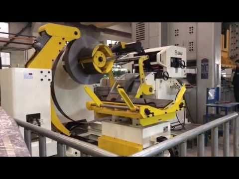 Power press machine auto press lines with automatic uncoiler leveler and...