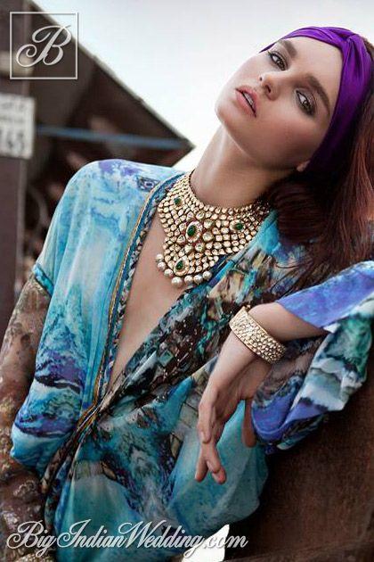 Jaipur Gems kundan neckpiece