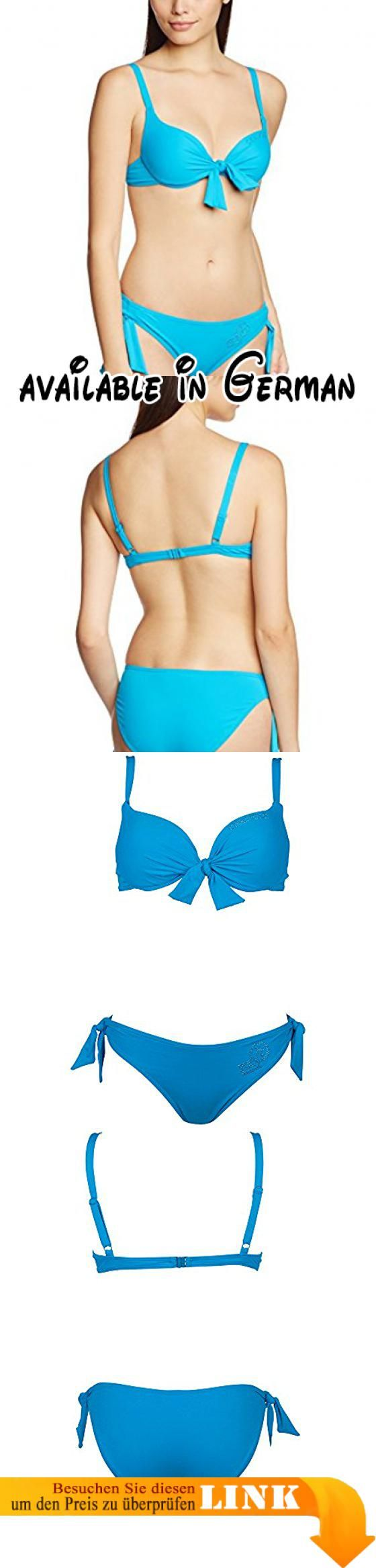 Chiemsee Damen Bikini Badeanzug Iben, Hawaiian Ocean, S, 1080710. Leuchtendes Blau und die perfekte Passform!. Der Bikini aus schnell trocknenden Material hat am Rücken einen Schnellverschluss und verstellbare Träger. Das gepolsterte Oberteil sorgt für ein tolles Dekolleté. Die Knoten am Dekolleté und an der Hose geben dem Bikini nicht nur das gewisse Etwas, sie sind auch individuell verstellbar für die perfekte Passform. Die Bikinihose hat einen Standard Schnitt in
