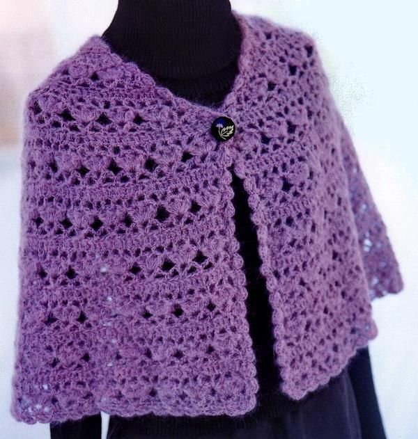 sweaters and shawls crochet | Crochet Shawls: Elegant Crochet Cape For Women