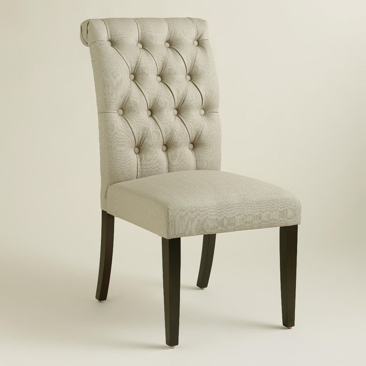 Tan Tufted Harper Dining Chairs, Set Of 2