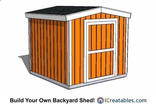 The plans for this 8x8 shed will help you easily build your own short 8 feet tall gable shed. Check out our website to search through our large selection of gable shed plans.