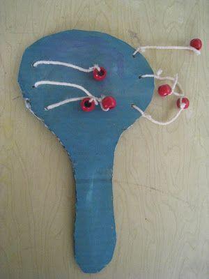musical instrument, bead drum