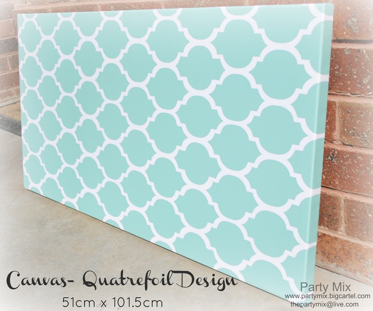Patterned Canvas available in many colours!