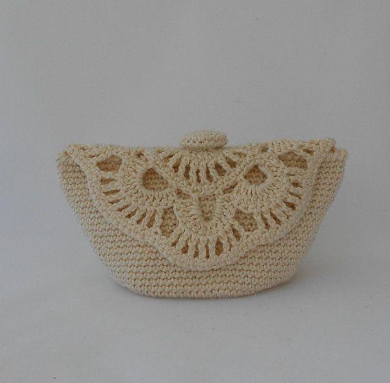 Small Crochet Makeup Bag Crochet Toiletries Bag. by PinkOliveGifts