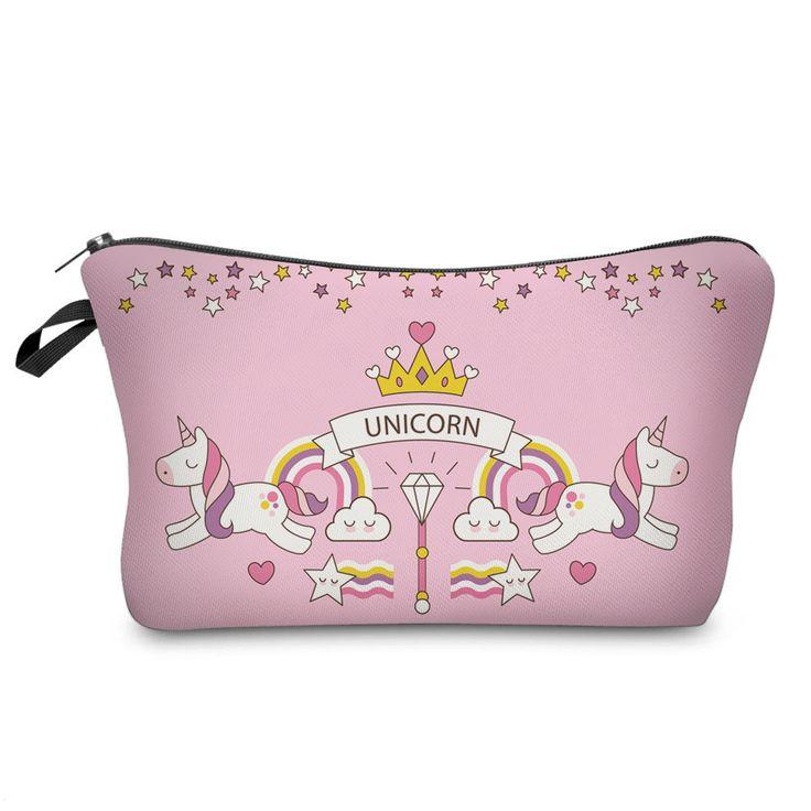 Pink Unicorn Carousel Pencil Case / Make-Up Case