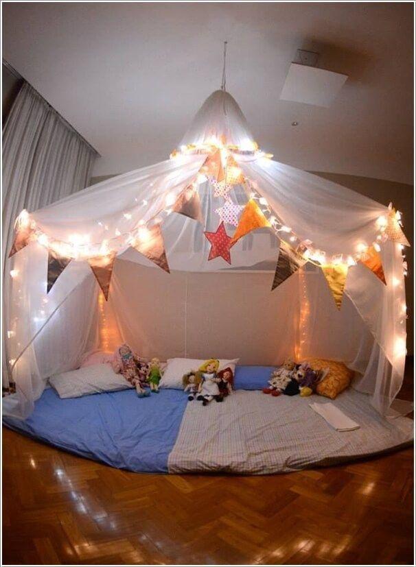 10 Super Cute Slumber Party Decor Ideas  I love this idea! More great ideas follow me at www.pinterest.com/inspireandmake