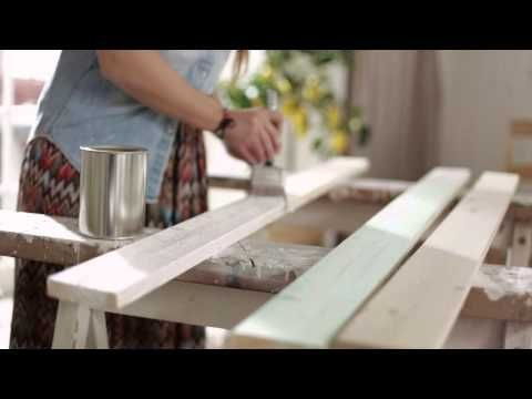 Love this simple and beautiful table diy video tutorial!