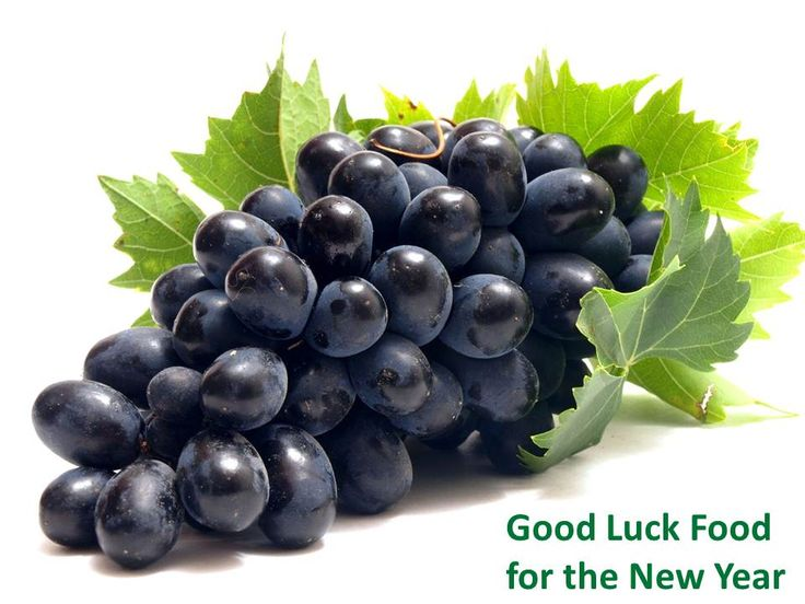Grapes In Portugal, Spain, Venezuela, Cuba, Mexico, Ecuador, and Peru on New Year's it is a custom to eat grapes before midnight, twelve in numbers. Each grape represented a month, thus ushering in the New Year full of prosperity and happiness.