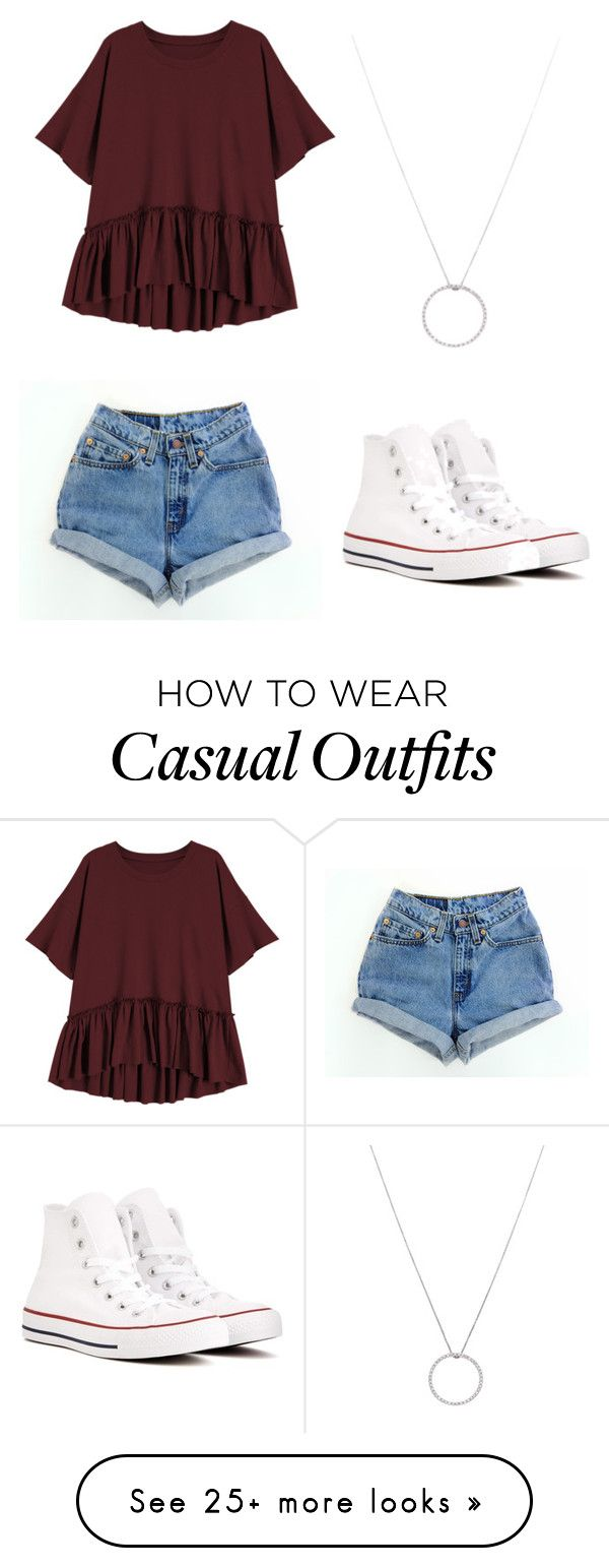 """Casual Chic"" by julieannr1202 on Polyvore featuring Converse and Roberto Coin"