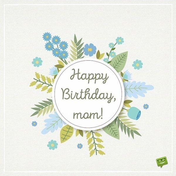 Happy Birthday,mom!