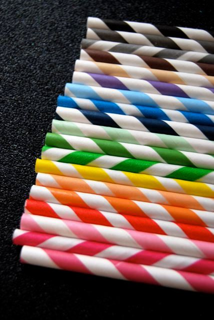 25 Assorted Striped Paper Straws and PDF by CupcakeSocial on Etsy, $4.00