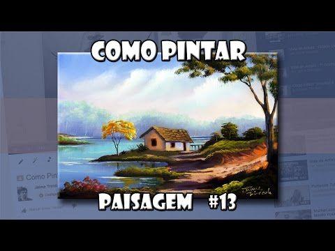 Como Pintar: Paisagem #1  (Passo a Passo) - YouTube