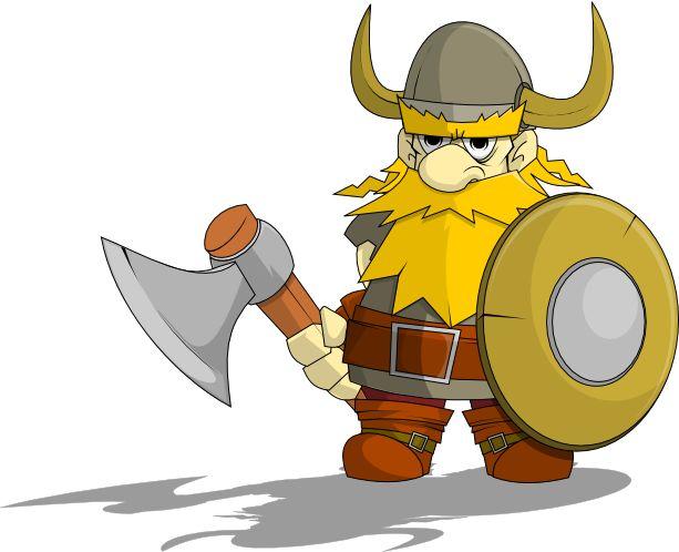 free viking clip art character