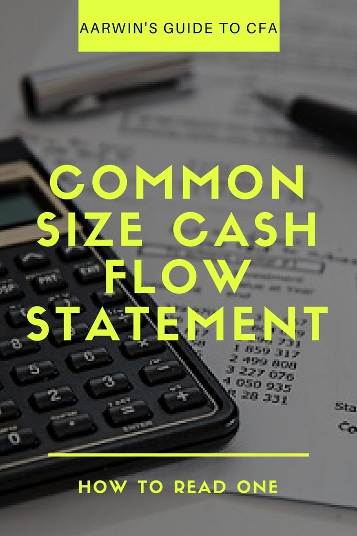 Common size format of the cash flow statement is a standardized form of the statement - standardized to a common denominator - revenue. Read on to find out how you read and interpret the common size cash flow statement.