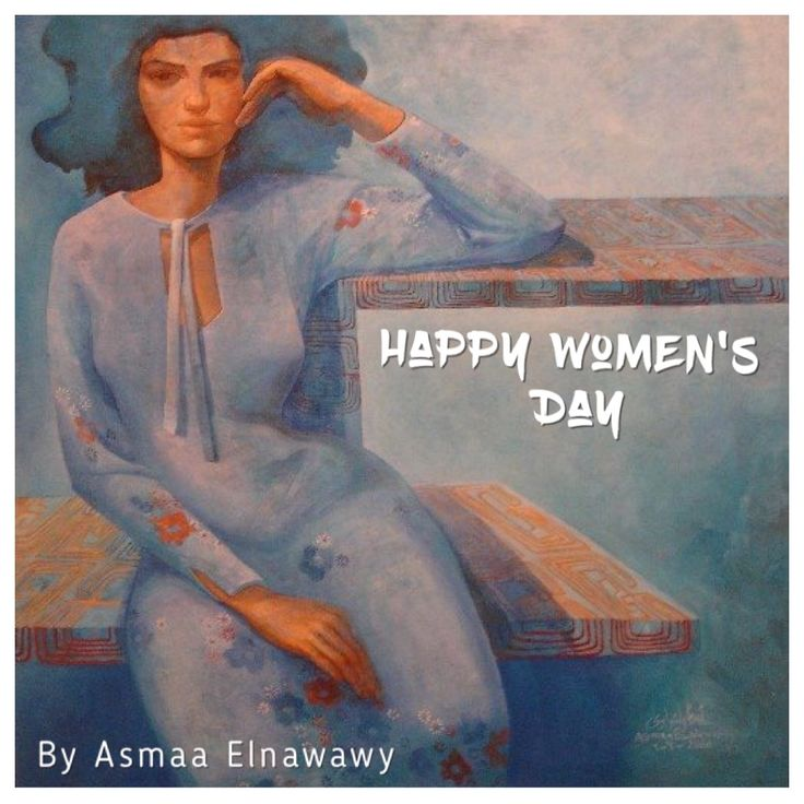 Happy women's day with one of my old paintings #Asmaa Elnawawy