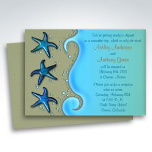 Starfish Beach Wedding Invitations - Party Simplicity Reception Only Invitations #beach #wedding