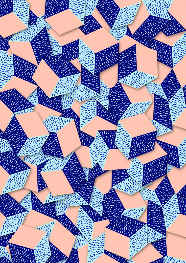 This is an example of pattern. The artist uses the same shape and layers them to create a pattern.