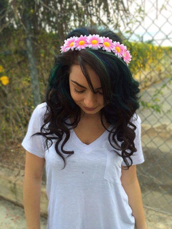 Pink Daisy Headband #C1058