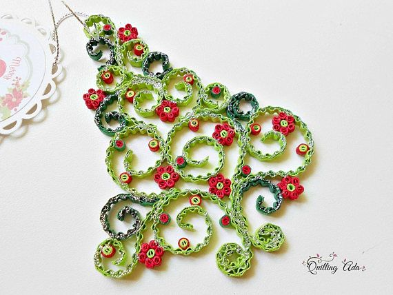Quilled Christmas ornament-Christmas tree-ornament
