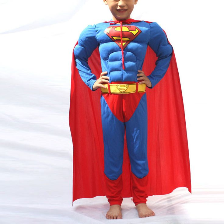 Kids Bob Muscle Superman Costume Boys Superman Cosplay Costume Halloween Costume for kids/Childrens Fancy Dress