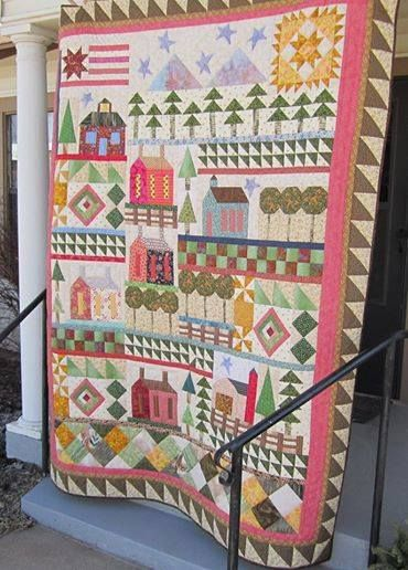 An entire town quilt
