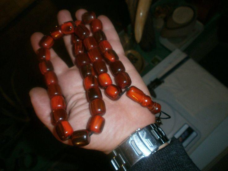 97g MISHBAHA of GENUINE HORN damari 33+imam+tassel κομπολόϊ από κέρατο by spyrinex06 on Etsy