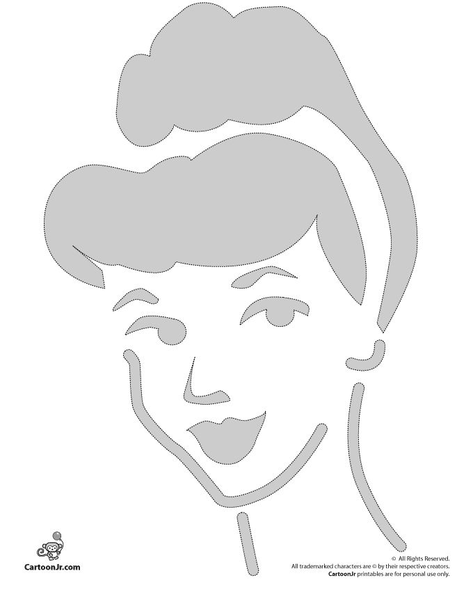 Pumpkin Stencils: Cinderella Disney Pumpkin Pattern – Cartoon Jr.