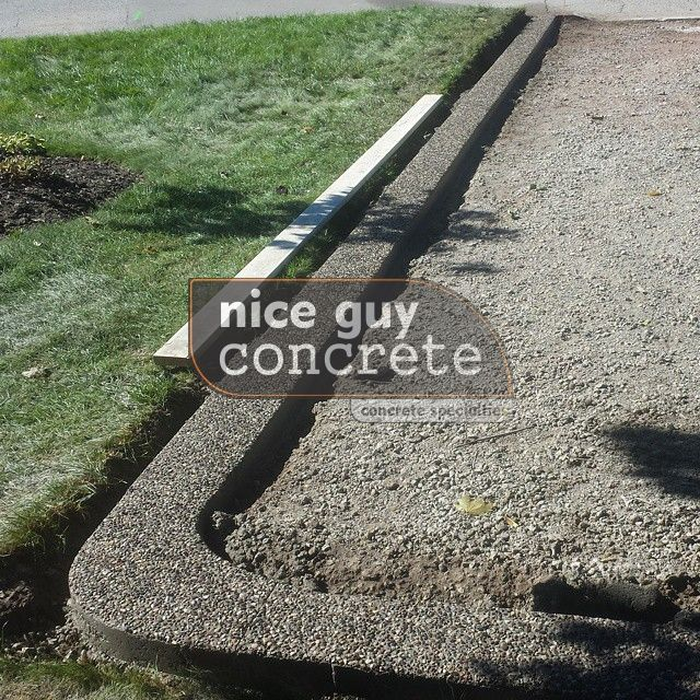 exposed aggregate concrete contractor in #burlington, Ontario #exposedaggregate #concretecontractor