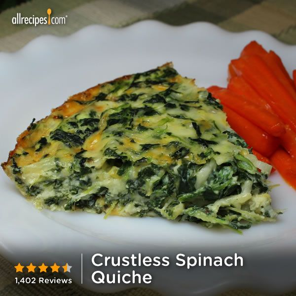 """Crustless Spinach Quiche 