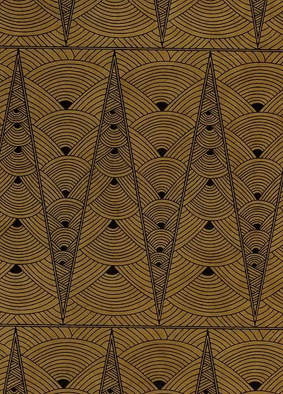 paper craft pattern paper to print Contemporary Art Deco paperpointed LamaLi paper black on tan (would love to give my bedroom door this pattern)