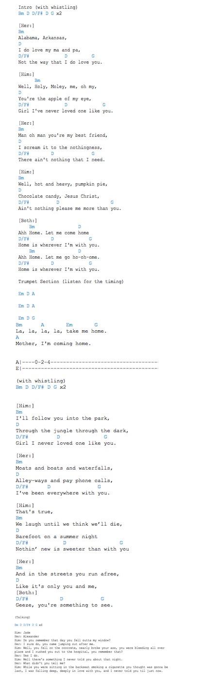 Edward sharpe and the magnetic zeros lyrics