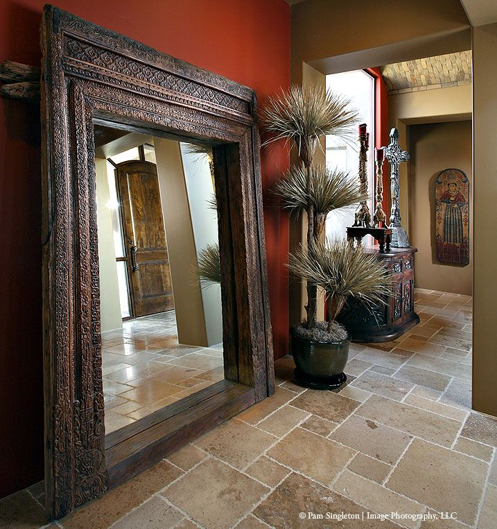 Indian door surround as mirror - From Tierra by Sanctuaries Interiors
