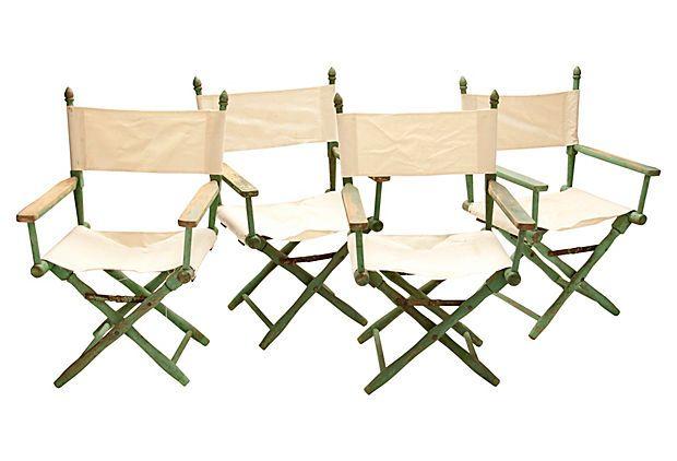 Director s chairs set of 4 on onekingslane com
