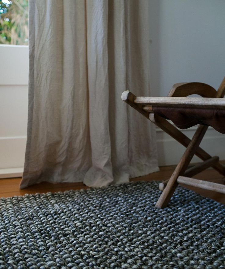 The Noughts Weave Rug is entirely woven by hand by skilled artisans in India. It is made from 100% felted wool and warp 100% cotton, guaranteed to give you the feel of luxuriously soft, warm and textured rug that will surely stand up to every day life. | huntingforgeorge.com