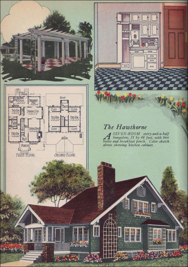 The Hawthorne Craftsman Style Bungalow 1925 American Builder Magazine By William A Radford Seven Room Story And Half 31 44 Feet