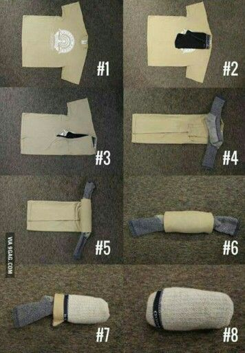 How To... Fold a t-shirt, underwear, and socks into a sock ball